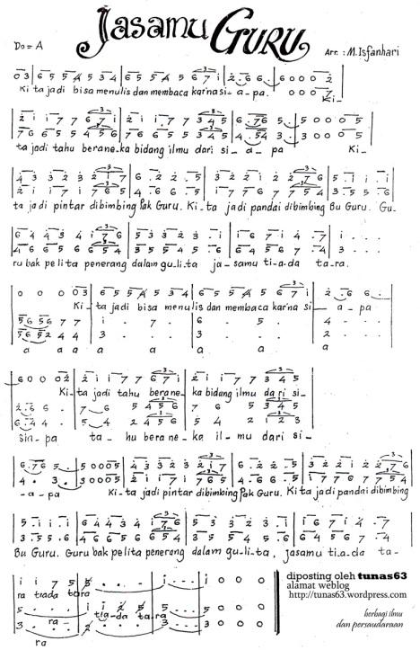 Paduan Suara: Lagu Jasamu Guru (Isfanhari)