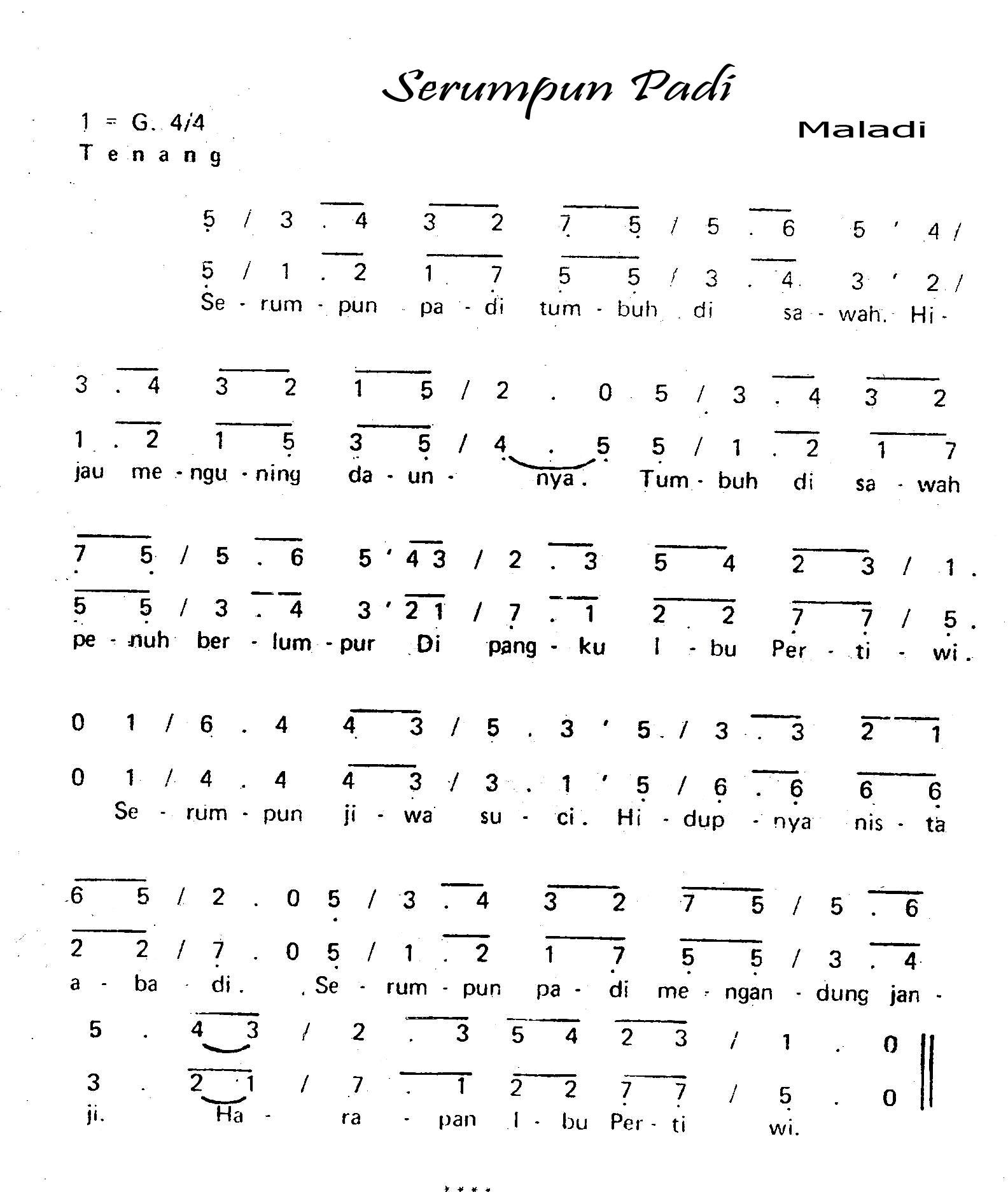 Chord N Lirik Republik: Chord N Lirik Lagu Padi Chord N Lirik Lagu Padi