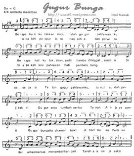 partitur lagu gugur bunga tunas63