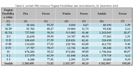 tabel 2 data PNS 2013