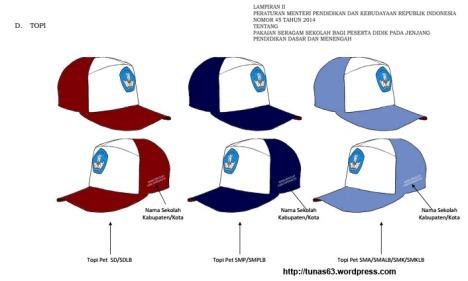 model topi seragam sekolah sd smp sma smk