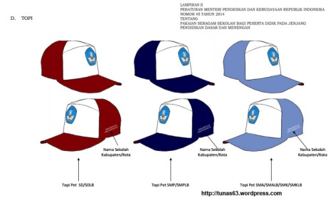 Gambar Model Seragam Sekolah Topi Atribud tunas63