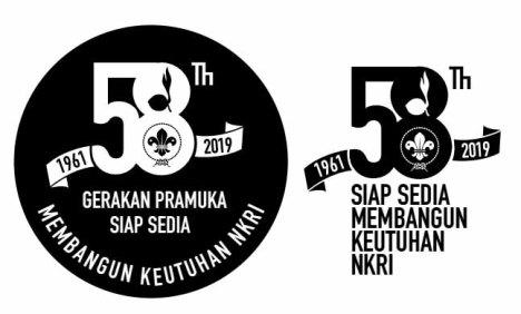 logo hari pramuka ke-58 (2019) hitam