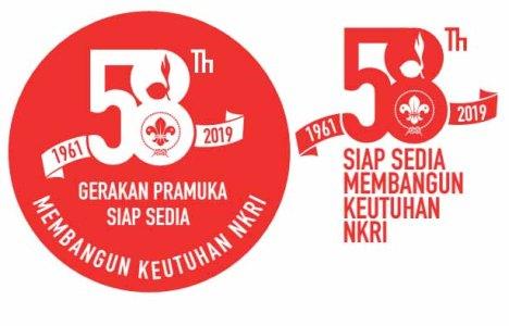 logo hari pramuka ke-58 (2019) merah