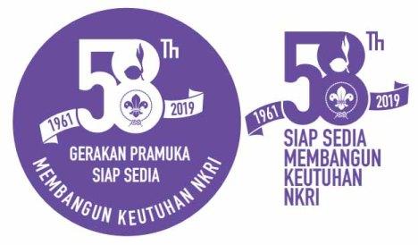 logo hari pramuka ke-58 (2019) ungu